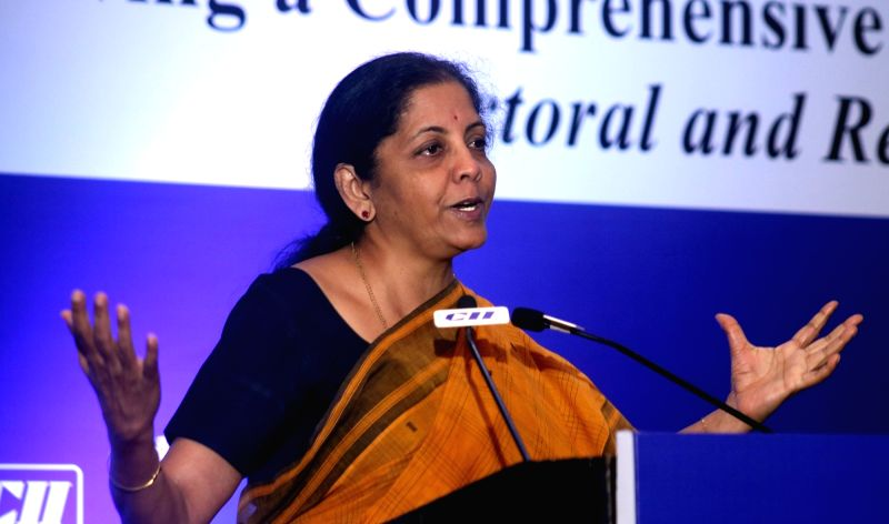 Union MoS Commerce and Industry Nirmala Sitharaman addresses at the 4th National Standard Conclave, in New Delhi on May 5, 2017.