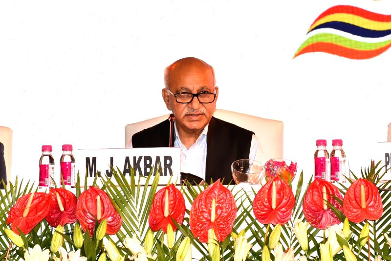 Union MoS External Affairs M. J. Akbar addresses during Plenary session of Tenth Edition of Delhi Dialogue on July 19, 2018.