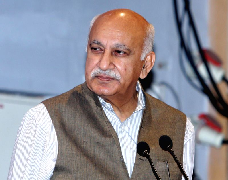 Union MoS External Affairs MJ Akbar during Convocation programme of International Management Institute in Kolkata on May 18, 2017.