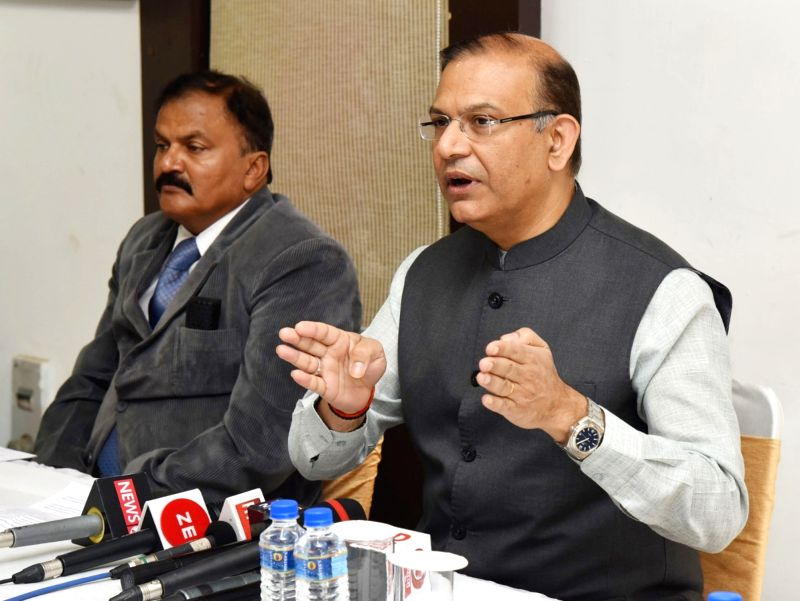Union MoS for Civil Aviation Jayant Sinha addresses the Post-Budget press conference in New Delhi on Feb 2, 2018. - Aviation Jayant Sinha