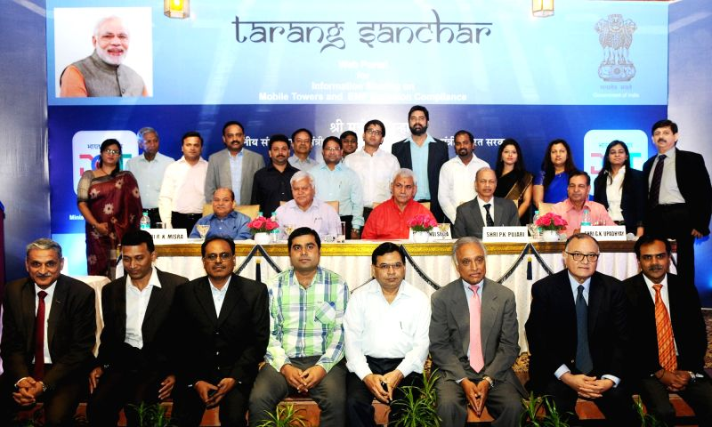Union MoS  for Communications and Railways Manoj Sinha during the launch of Tarang Sanchar Web Portal, in New Delhi on May 2, 2017. - Manoj Sinha