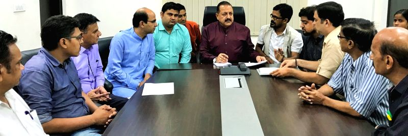 Union MoS for Development of North Eastern Region (I/C), Prime Minister's Office, Personnel, Public Grievances & Pensions, Atomic Energy and Space, Dr. Jitendra Singh holds a meeting ... - Jitendra Singh