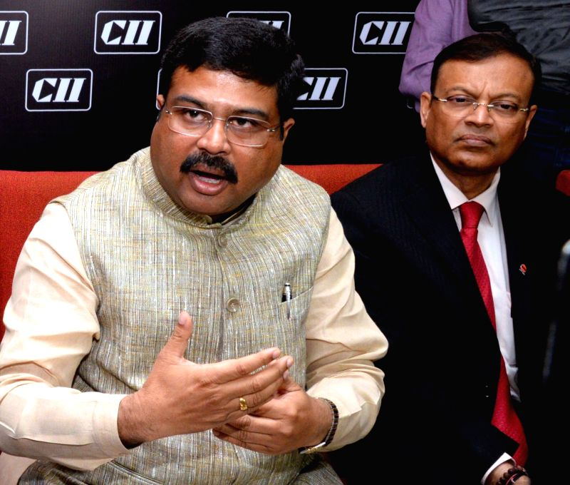 Union MoS for petroleum and natural gas Dharmendra Pradhan during a CII programme on Oil and Gas in Kolkata, on Nov 14, 2015.