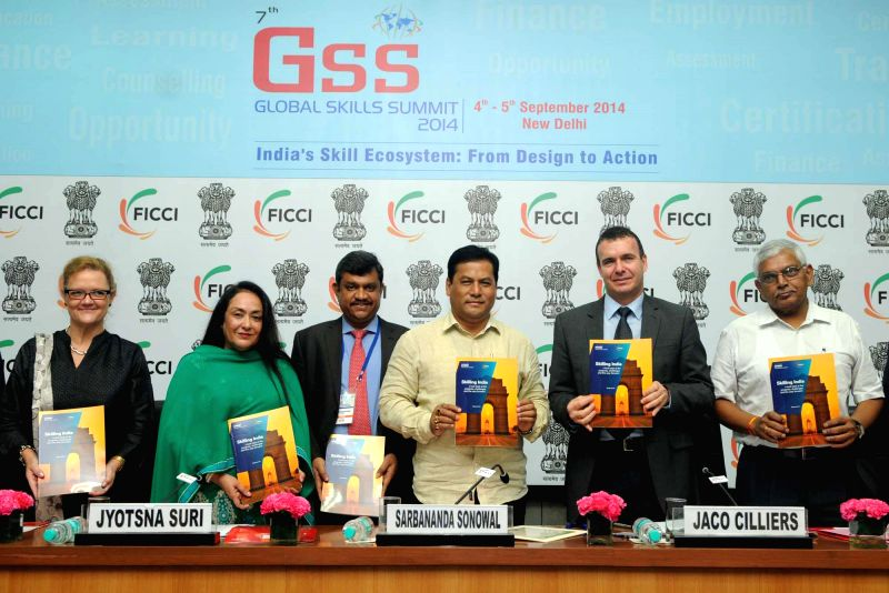 Union MoS for Skill Development, Entrepreneurship, Youth Affairs and Sports (Independent Charge) Sarbananda Sonowal releases FICCI-KPMG paper on 'India's Skill Ecosystem: From Design to Action'