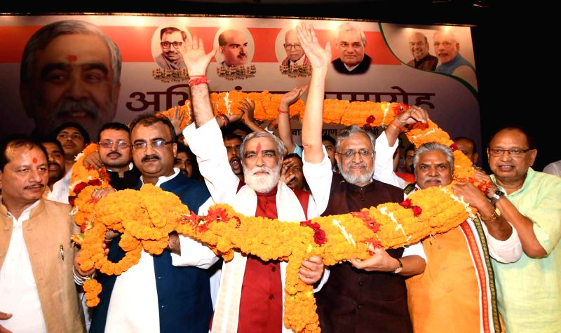 Felicitation programme - Bihar Dy CM and other ministers - Sushil Kumar Modi, Mangal Pandey and Prem Kumar