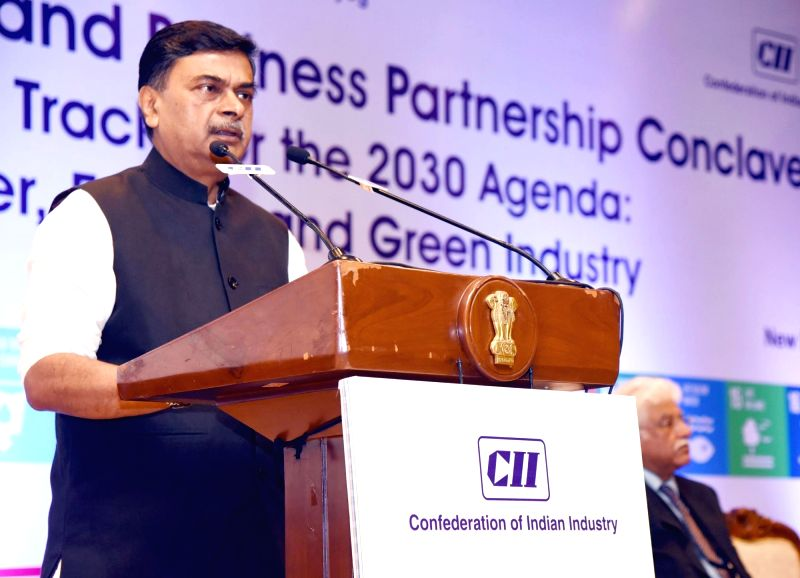Union MoS Power and New and Renewable Energy Raj Kumar Singh addresses at the Government and Business Partnership Conclave on Fast Tracks for the 2030 Agenda: Water, Energy and Green ...