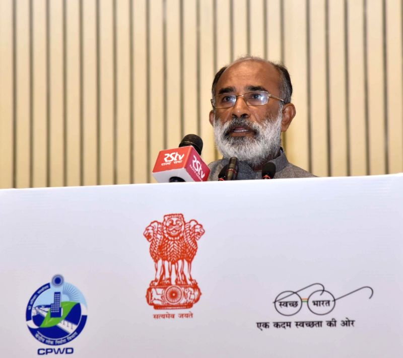 Union MoS Tourism Alphons Kannanthanam addresses at the 164th Central Public Works Department Day celebrations, in New Delhi on July 12, 2018.