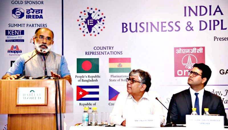 Union MoS Tourism Alphons Kannanthanam addresses ​​a​​ ​s​ession on 'Tourism Infrastructure'​ at India Empire Business and Diplomacy Summit ,​ ​in New Delhi on July ...