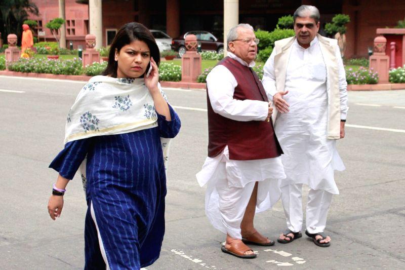 Union MSME Minister Kalraj Mishra after BJP parliamentary party meeting in New Delhi, on Aug 9, 2016. - Kalraj Mishra