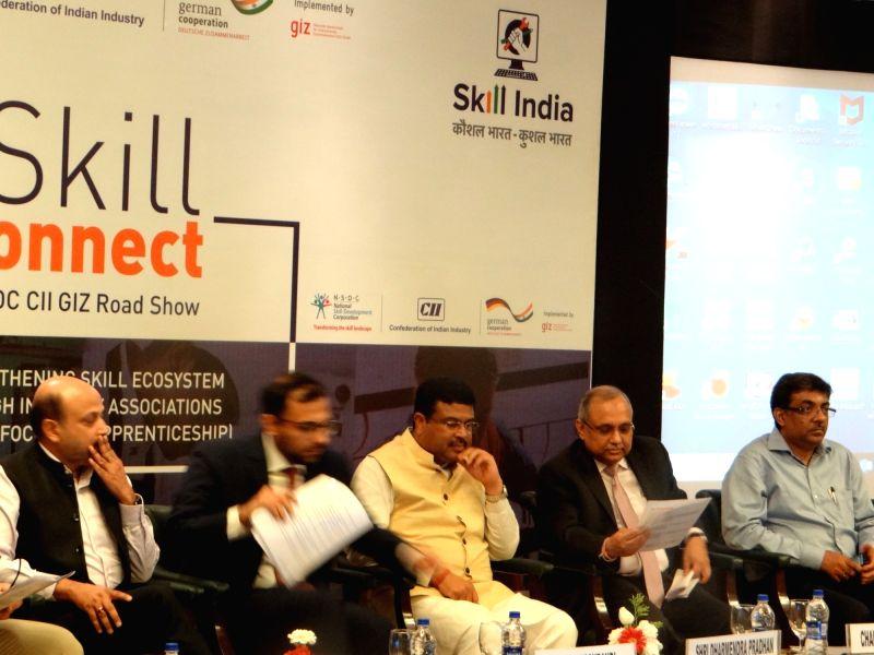 "Union Petroleum and Natural Gas and Skill Development and Entrepreneurship Minister Dharmendra Pradhan addresses during the launch of ""Skill Connect Road Show"" in New Delhi on ... - Dharmendra Pradhan"