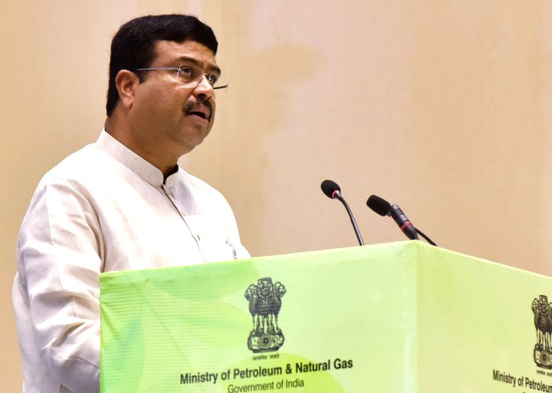 "Union Petroleum and Natural Gas and Skill Development and Entrepreneurship Minister Dharmendra Pradhan addresses at the inauguration of the ""World Biofuel Day 2018"" programme, in ... - Dharmendra Pradhan"