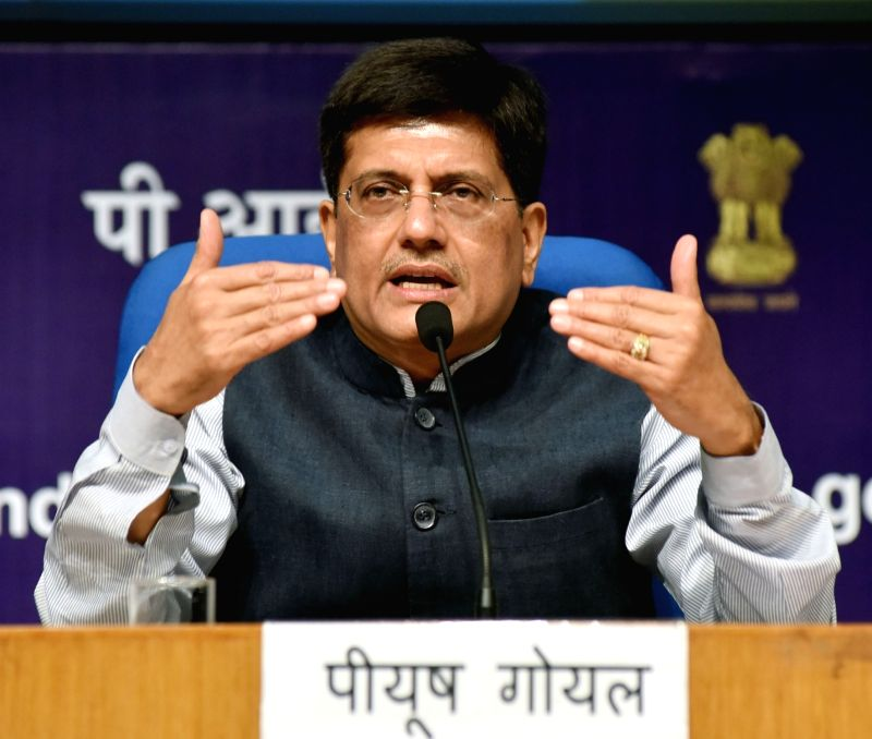 Union Power Minister Piyush Goyal addresses a press conference on achievements of his ministries during three years of NDA Government, in New Delhi on June 12, 2017. - Piyush Goyal