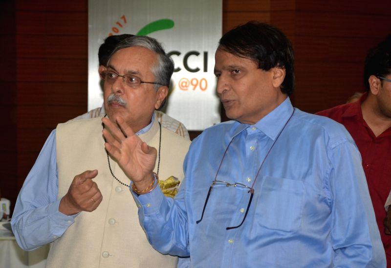 Union Railway Minister Suresh Prabhu at 'Smart Railway Conclave' in New Delhi on June 6, 2017. - Suresh Prabhu