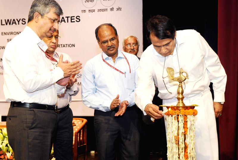 "Union Railways Minister Suresh Prabhakar Prabhu inaugurates  World Environment Day- 2017 with the theme ""Towards a Low-Carbon Mass Transportation System"" in New Delhi on June 05, ... - Suresh Prabhakar Prabhu"