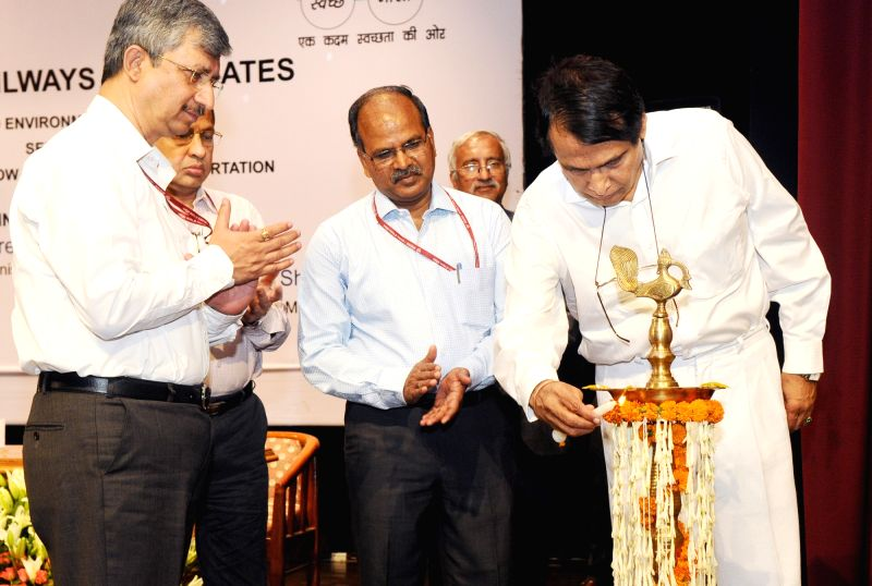 "Union Railways Minister Suresh Prabhakar Prabhu inaguarate World Environment Day- 2017 with the theme ""Towards a Low-Carbon Mass Transportation System"" in New Delhi on June 05, ... - Suresh Prabhakar Prabhu"