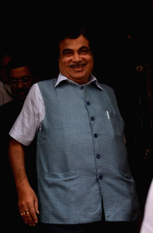 Union Road Transport and Highways, Shipping and Water Resources, River Development and Ganga Rejuvenation Minister Nitin Gadkari seen leaving after day-2 of Parliament's monsoon session, ... - Nitin Gadkari