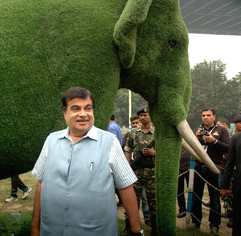 Union Road Transport, Highways and Shipping Minister Nitin Gadkari  during the concluding ceremony of BBIN Motor Rally in Kolkata, on Dec 2, 2015. - Nitin Gadkari