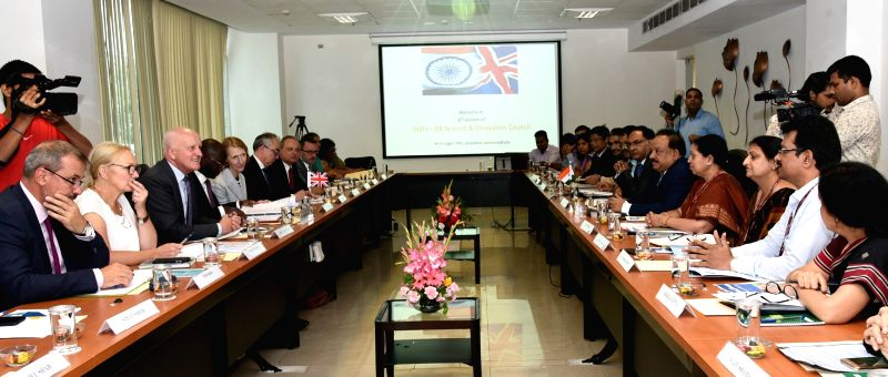 Union Science and Technology Minister Harsh Vardhan and UK Universities, Science, Research and Innovation Minister Sam Gyimah at the 6th India-UK Science and Innovation Council (SIC) ... - Harsh Vardhan