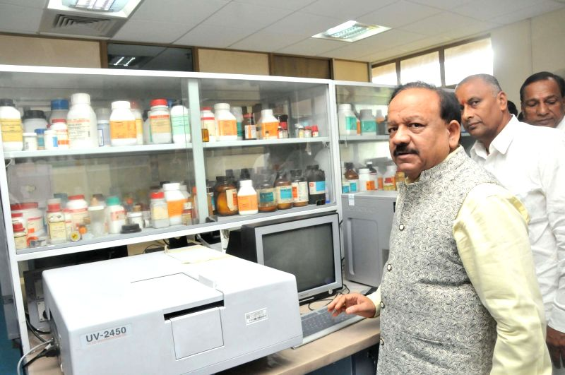 Union Science and Technology Minister Harsh Vardhan at the inaugural programme of the new campus of Centre for DNA Fingerprinting and Diagnostics (CDFD), in Hyderabad on August 12, 2018. - Harsh Vardhan