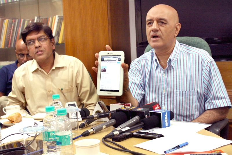 Union Tourism Ministry Secretary Parvez Dewan at the  launch of Mobile Application for tourists in New Delhi on Sept 3, 2014.