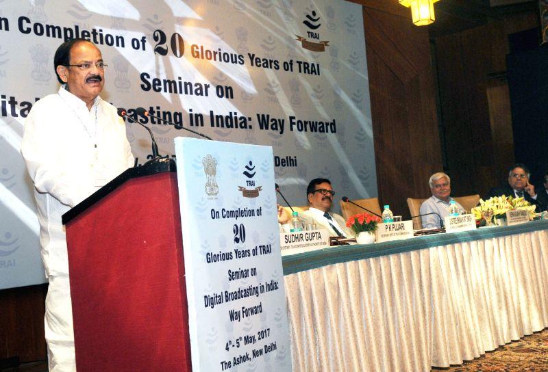 "Union Urban Development Minister M. Venkaiah Naidu addresses at that inauguration of a seminar on ""Digital Broadcasting in India – Way forward"" on 20th anniversary of Telecom ... - M. Venkaiah Naidu"