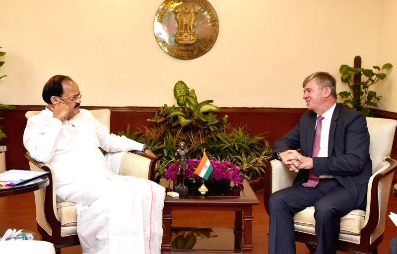 Union Urban Development Minister M. Venkaiah Naidu calls on Ambassador of Czech Republic of India Milan Hovorka in New Delhi on June 8, 2017. - M. Venkaiah Naidu
