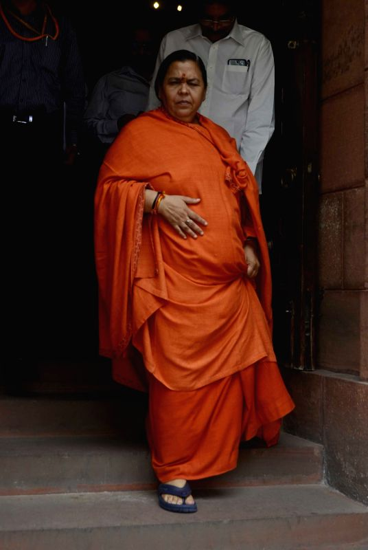 Union Water Resources Minister Uma Bharti at Parliament in New Delhi, on July 26, 2016. - Uma Bharti
