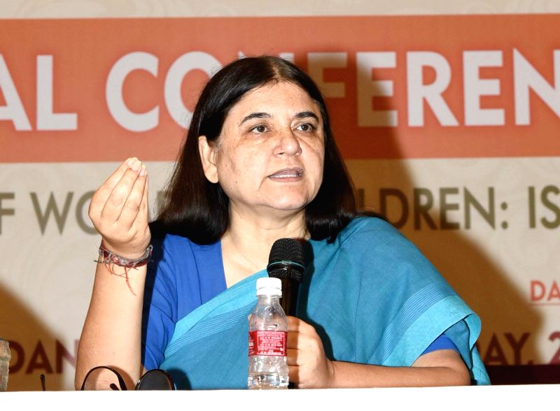 Union Women and Child Development Minister Maneka Sanjay Gandhi addresses the National Conference on NRI Marriages and Trafficking of Women and Children: Issues and way forward, in New ... - Maneka Sanjay Gandhi
