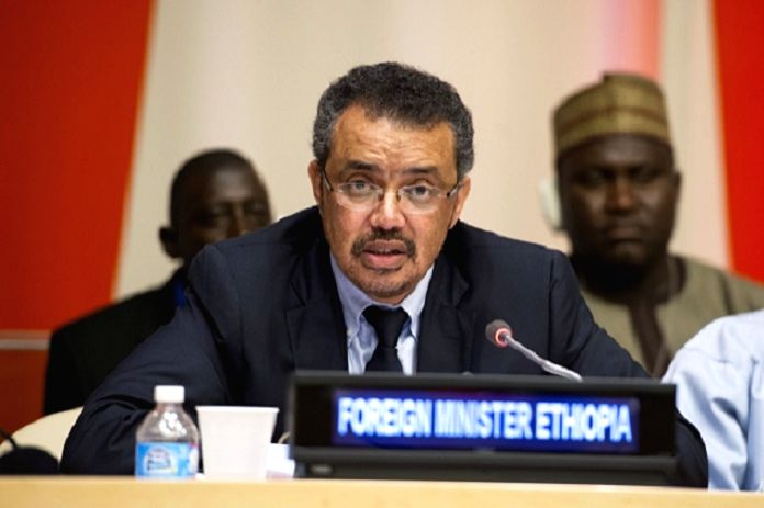United Nations: Former Ethiopian Foreign Minister Tedros Adhanom Ghebreyesus who was elected as the Director-General of the World Health Organisation (WHO), becoming the first African to head the ... - Tedros Adhanom Ghebreyesus