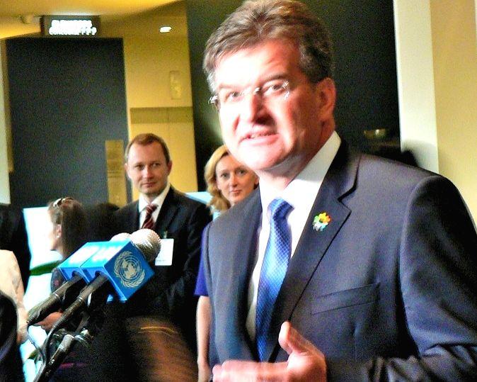 United Nations General Assembly President Miroslav Lajcak.