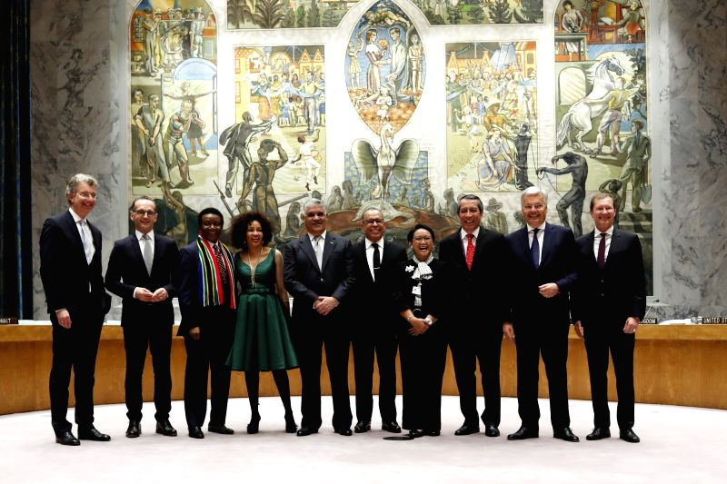 UNITED NATIONS, June 8, 2018 - German Ambassador to the United Nations Christoph Heusgen, German Foreign Minister Heiko Maas, South African Ambassador to the UN Jerry Matthews Matjila, South African ... - Heiko Maas