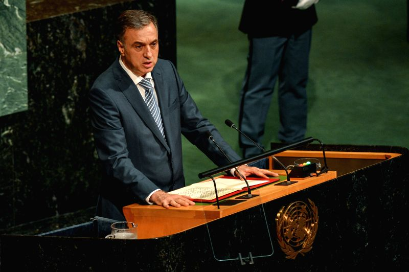 UNITED NATIONS, Sept. 21, 2017 - Montenegro's President Filip Vujanovic addresses the 72nd session of United Nations General Assembly on the second day of the general debate at the UN headquarters in ...