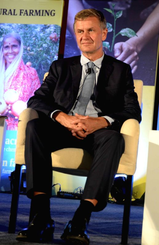 United Nations (UN) Environment Head Erik Solheim during a programme organsied on World Environment Day in New Delhi on June 5, 2018.