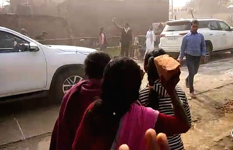 Upset over lack of development, a group of villagers stoned Bihar Chief Minister Nitish Kumar's convoy in Buxar district, injuring nearly a dozen security personnel on Jan 12, 2018. The ... - Nitish Kumar