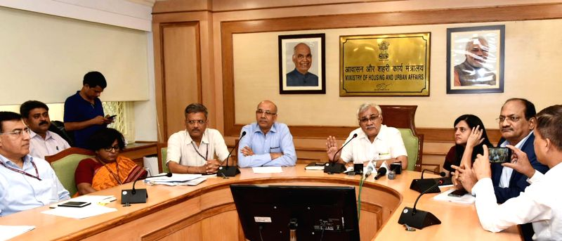 Urban Affairs Secretary Durga Shankar Mishra addresses at the launch of upgraded version of 'Delhi Metro Mobile App' of Delhi Metro,in New Delhi, on  July 23, 2018.