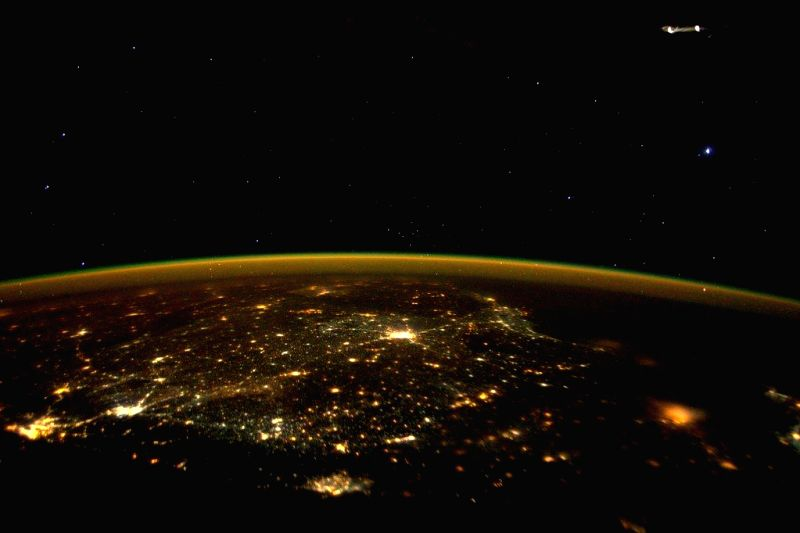 US astronaut, Scott Kelly, tweeted this picture of South India at night from space on November 15. (Photo Courtesy: Twitter)