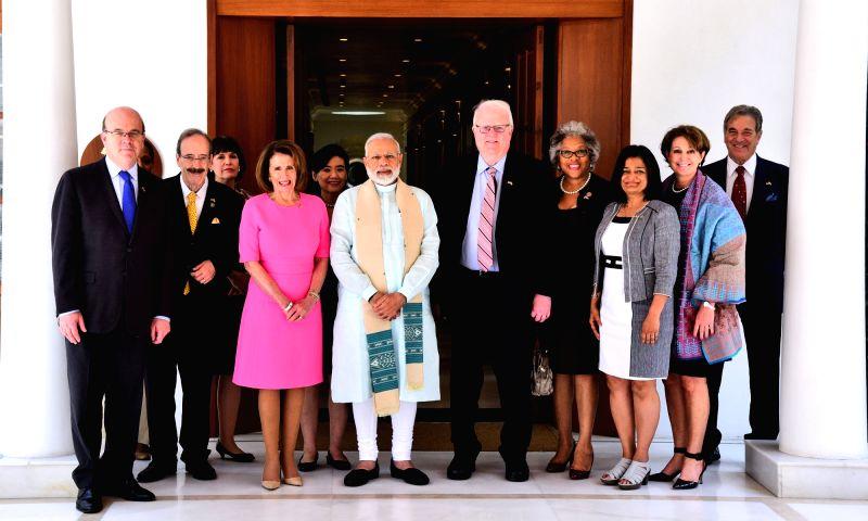 US Congressional Delegation calls on Prime Minister Narendra Modi in New Delhi on May 11, 2017. - Narendra Modi