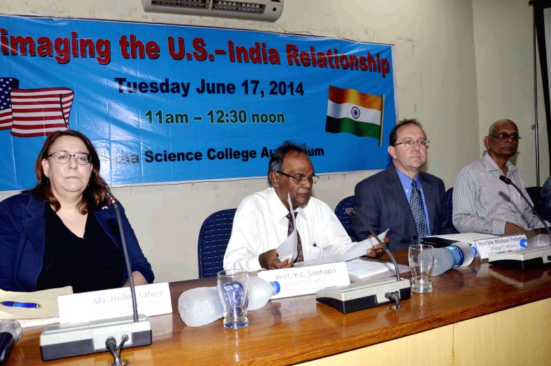US embassy official during a the seminar at Patna Science College in Patna on June 17, 2014.