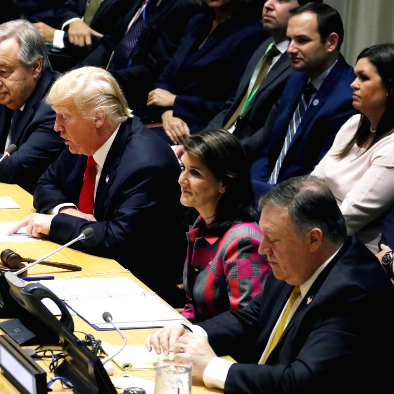 :US President Donald Trump and Nikki Haley. (File Photo: IANS).
