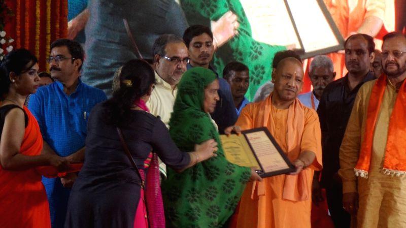 Uttar Pradesh Chief Minister Yogi Adityanath during a programme at Banaras Hindu University in Varanasi on May 27, 2017. - Yogi Adityanath