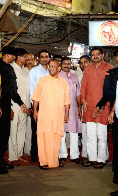 Uttar Pradesh Chief Minister Yogi Adityanath during his visit to Kashi Vishwanath Temple in Varanasi on Aug 5, 2018. - Yogi Adityanath