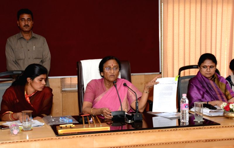"Uttar Pradesh Minister Rita Bahuguna Joshi chairs a meeting on ""Triple talaq"" in Lucknow on April 19, 2017. - Rita Bahuguna Joshi"