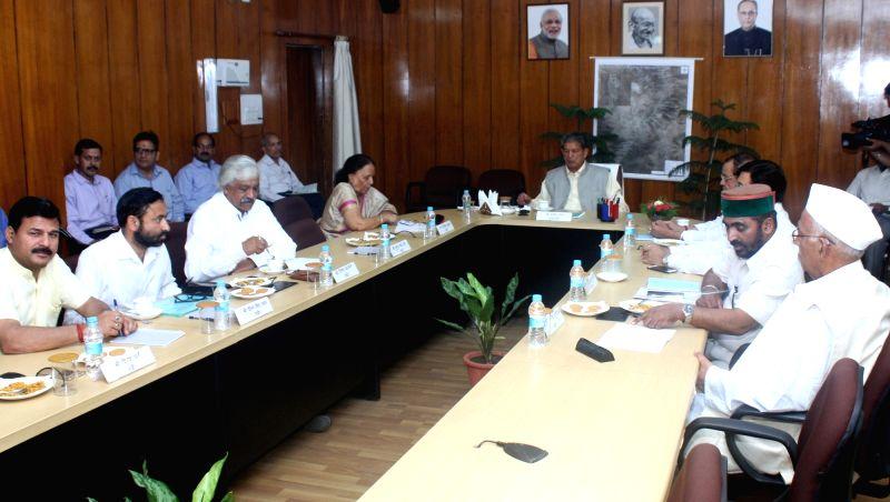 Uttarakhand Chief Minister Harish Rawat during a cabinet meeting in Dehradun on May 12, 2016. - Harish Rawat
