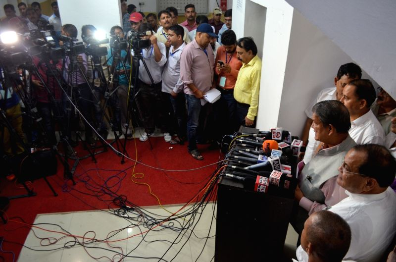 Uttarakhand Chief Minister Harish Rawat talks to press at State Assembly in Dehradun on July 22, 2016. - Harish Rawat