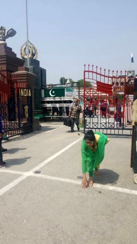 Uzma Ahmed, who alleged she was forced to marry a Pakistani man returned from Pakistan at Wagah border near Amritsar on May 25, 2017.