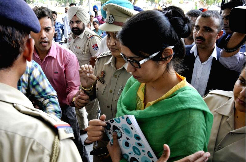 Uzma Ahmed, who alleged she was forced to marry a Pakistani man returned from Pakistan at Attari-Wagah border near Amritsar on May 25, 2017.