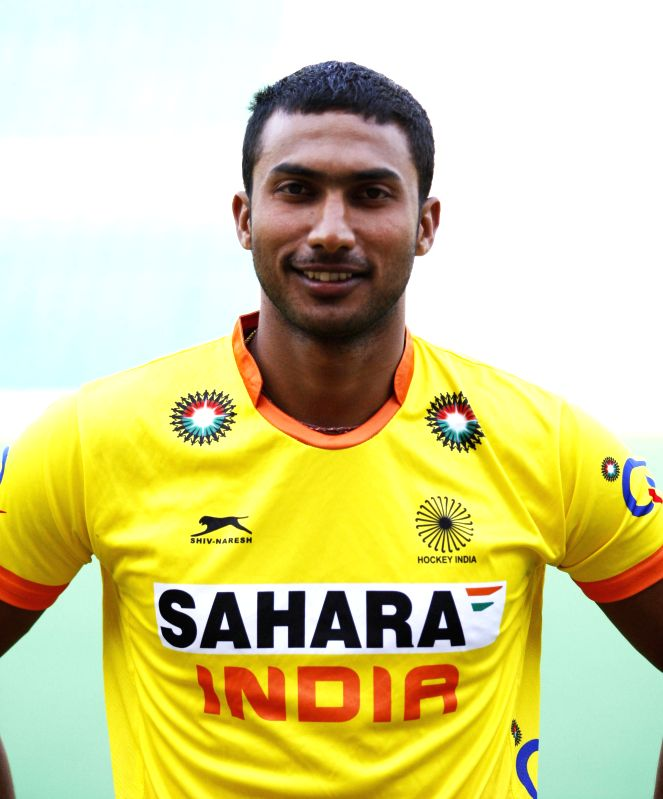 V R Raghunath who was selected in the Indian Men Hockey Team for upcoming Hockey World Cup 2014 which is scheduled to begin on 31st May 2014 in The Hague, Netherlands.