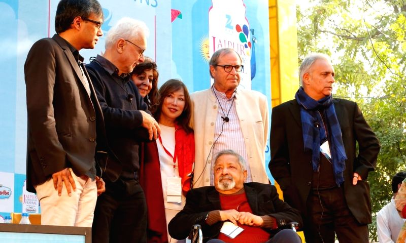 V.S. Naipaul at Jaipur Literature Festival in 2015.