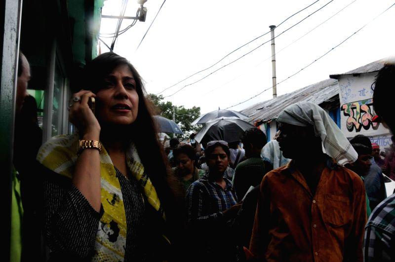 Vaishali Dalmiya, daughter of late former BCCI president Jagmohan Dalmiya and Trinamool Congress leader at the West Bengal Chief Ministers residence in Kolkata on May 20, 2016.