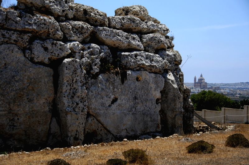 Photo taken on July. 20, 2013 shows the Ggantija Temples at Xaghra on Malta's second largest island Gozo. Seven megalithic temples are found on the islands of ...
